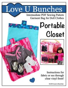 """The Portable Closet for 18"""" Dolls"""