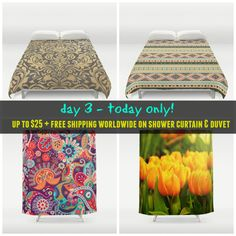 Today only (2/20)! - #sale #deals Up to $25 off #showercurtain & #duvetcovers + #freeshipping #worldwide on those products. Check more #homedecor #roomdecor at society6.com/julianarw