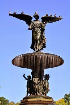Detalhe da estátua da Bestheda Terrace, Central Park, New York, Nova Iorque, NYC, Manhattan, USA, EUA