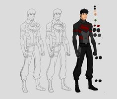 If superboy had a nightwing style costume.