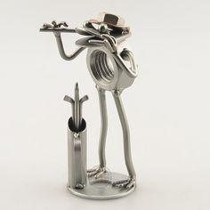 Stahlmännchen Figur NEU Schraubenmännchen Geiger Geige das Original