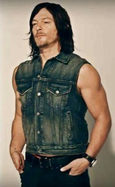 "he has this look like, ""Why the fuck did I button this Vest? I feel smothered like a woman in a corset!"" xD"