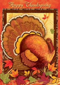 "View Happy Thanksgiving Flag 28""x40"" - 1351CD"
