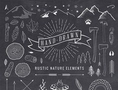 Note to Meg: Some cute nature vectors to use if we decide to go with a similar detail as Benj Haisch's scroll over blog summaries. Or they could be used as other elements as well. (not a big fan of the inorganic vectors i.e. the axes, camp fire, pulley, etc)