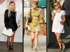 actrices tambien se han contagiado de la moda romana, con vestidos dorados, sueltos y con un toque de elegancia.