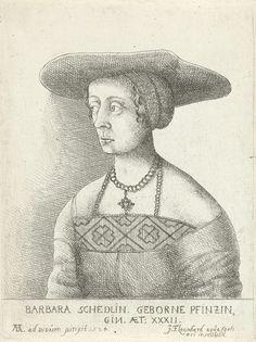 Johann Friedrich Leonard | Portret van Barbara Schedlin, Johann Friedrich Leonard, 1643 - 1680 | Portret van Barbara Schedlin, op 32-jarige leeftijd.