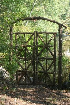 This 7' tall double gate is part of a deer fence for the entire property. Description from pinterest.com. I searched for this on bing.com/images