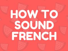 Improve the way you can speak french by learning all about liaison. Liaisons are exactly what makes you think French is complicated.