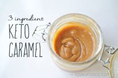 Make a batch of low carb keto caramel to take all your desserts to the next level. This basic recipe uses only 3 ingredients! www.tasteaholics.com
