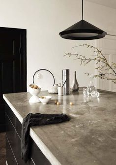 that countertop looks interesting 40 Amazing and stylish kitchens with concrete countertops