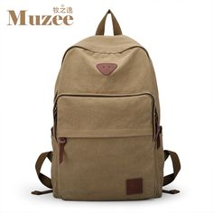 5d0b2597ff Arcuate Leisure Unisex Zipper Solid Canvas Backpack - Free Shipping   No  Tax. Men s BackpackCanvas BackpackShoulder BackpackFashion ...