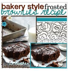 Bakery Style Frosted Brownies Recipe