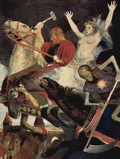 Arnold Böcklinアルノルト・ベックリン(1827ー1901)「Der Krieg(戦争)」(1896 象徴主義)