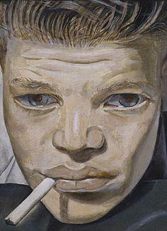 'Chico fumando', de Lucian Freud.
