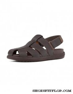 c4d0bccb4bed99 Fitflop Mens Sandals Ffisher Leather Chocolate Fitflop Sandals