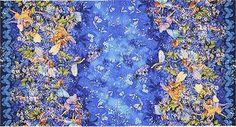 Dusk Fairies Border, Gold Accented, Michael Miller, Cicely Mary Barker Flower Fairies, Ladybutton Fabrics