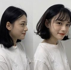 These are the hottest Korean bangs in 2019 TOP BEAUTY LIFESTYLES : See the before and after with Korean long side bangs? They are absolutely life saver to round faces koreanhairstyle koreanwomen koreanfashion hairstyleforroundfaces hairstylewithbangs cut Short Hair Styles For Round Faces, Hairstyles For Round Faces, Short Bob Hairstyles, Hairstyles With Bangs, Short Hair Cuts, Medium Hair Styles, Curly Hair Styles, Haircuts, Korean Short Hair Bob