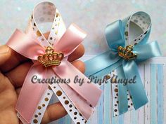 Set Of 12 Pink Royal Princess Baby Shower Guest Pin Favors