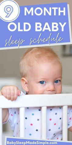 Get your easy 9 month old sleep schedule here, including other important tips and facts you have to know to get your 9 month old sleeping through the night. Usually your 9 month old won't sleep because of the 9 month sleep regression. We've got tips for that, too! Get your schedules and routines to make bedtime and nap time a happy time, and learn why awake times are so important. You can get your 9 month old sleeping like a champ with these sleep tips! #babysleeptips #babysleepschedule #baby 9 Month Old Sleep, 9 Month Old Baby, 9 Month Sleep Regression, Baby Tylenol, Baby Sleep Schedule, 9 Month Olds, Bedtime Routine, Baby Development, Everything Baby