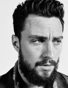 "aarontaylorjohnsonfans: ""Aaron Taylor-Johnson for GQ Magazine Photograph by- Peter Hapak Aaron Taylor Johnson, Nocturnal Animals, Anna Karenina, Moustache, Mens Hairstyles Pompadour, People Of Interest, Gq Magazine, Luke Evans, Richard Madden"
