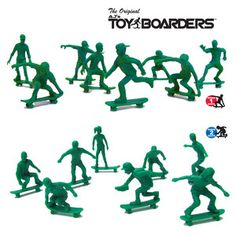 Toy Boarders Set III, $16.50, now featured on Fab.