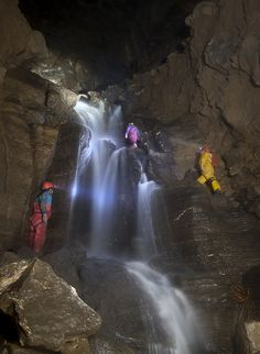 GB Cave GB Cavern Mendip Waterfall This photo was taken in Dec Flickr