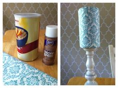 DIY - Headband holder from oatmeal container