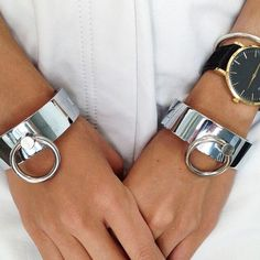 New fashion accessories jewelry simple cool punk copper metal Rings cuff bangle mix color women lovers' gift Bracelets For Men, Bangle Bracelets, Metal Bracelets, Diy Schmuck, Simple Jewelry, Collar And Cuff, Silver Cuff, Silver Bangles, Women's Accessories