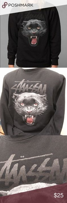 80147578dd0c XL STÜSSY panther crewneck sweatshirt Extra large STÜSSY brand sweatshirt  (jumper) with full color