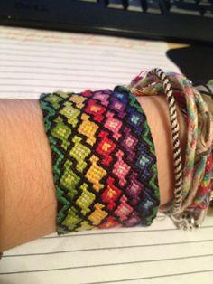 Photo added by craftgal29  Friendship bracelet pattern 1245  #friendship #bracelet #wristband #craft #handmade #DIY #braceletbook #chevron