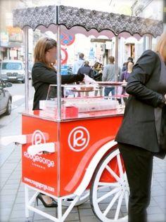 Ice cream cart chariot charrette à glace ice cream trolley