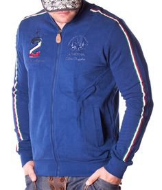 La Martina Maserati 2 Polo Team Zip Hoodie - Blue Color: blue 2 side pockets La Martina Logo embroidery on the left side of chest Maserati polo team. Maserati, Polo Team, Zip Hoodie, Martini, Designer Clothing, Hoodies, Jackets, How To Wear, Blue