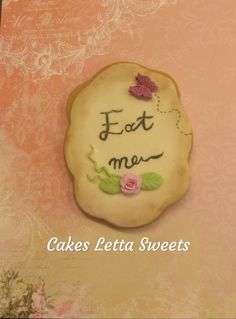 Alice in wonderland Alice In Wonderland, Cookies, Crack Crackers, Biscuits, Cookie Recipes, Cakes, Cookie, Fortune Cookie, Snack Cakes