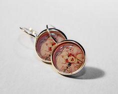 Jem Earrings Epoxy Dome Dangle Earrings Jem by HConwayPhotography, $9.50