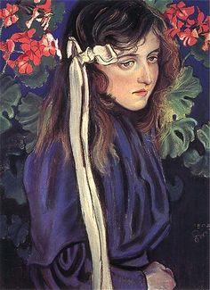 "Polish Painting Masterpieces Stanislaw Wyspianski ""Portrait of Eliza Parenska"", pastel on paper, National Museum, Kielce Painting For Kids, Art For Kids, Art Nouveau, Portraits, Portrait Paintings, Vanitas, Belle Epoque, Art World, Art Blog"