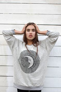 The Orphans Arms MOON FACE oversized sweatshirt