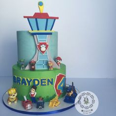 Pastel de Paw Patrol. Genial para una fiesta temática.#Pawpatrol #tarta