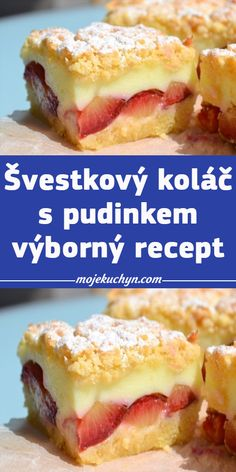 Bread Dough Recipe, I Love Food, Good Food, Czech Recipes, Sweet Cakes, Fruit Smoothies, Sweet Recipes, Yummy Treats, Sweet Tooth