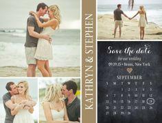 Wedding Paper Divas: Cherished Calendar Save the Date Postcards