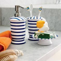 Maritime Bath Collection  | The Land of Nod these are adorable!!!