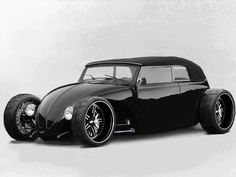 Ideas for my new street rod (More at pinterest.com/gary5mith/ideas-for-my-new-street-rod/) : Black low beetle