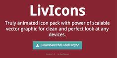 絵柄がアニメーションする303個のアイコン集『LivIcons』