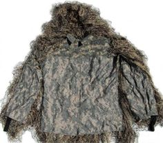 ccbcb3f036fc9 Synthetic Ultra-Light Sniper Ghillie ATD BDU Mossy Jacket XL