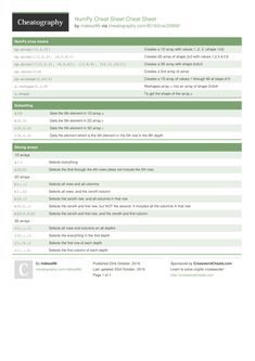 NumPy Cheat Sheet Cheat Sheet from Data Science, Computer Science, Python Cheat Sheet, Internet Safety, Teaching Technology, Python Programming, Funny Tattoos, Travel Design, Forensics