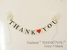 ウェディング THANK♡YOU ガーランド バナー