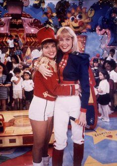 Leticia Spiller and Xuxa at The Xuxa´s Show