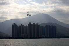 Cable cars on the way to Tai O fishing village #HK