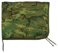 Poncho Liner Military Army USMC Woodland Camo Woobie Quilted Blanket - NEW #FoxOutdoor