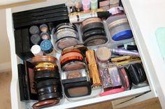 Ikea Alex Makeup Storage and Organization Ideas - Muji http://pinkparadisebeauty.blogspot.co.uk/2016/11/make-up-storage-and-organization-ideas.html