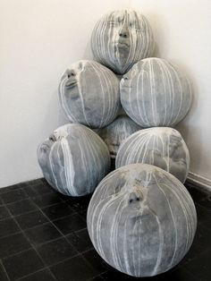 Would make for some cool atlas stones :)  sculpture // by samuel salcedo